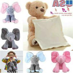 Peek-a-boo Elephant Baby Plush Toy Singing Stuffed Music Cut