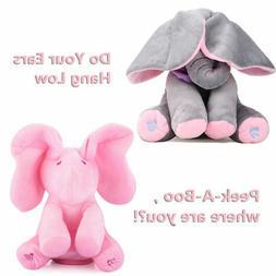 Peek-a-boo Elephant Baby Plush Toy Singing Stuffed Kids Musi