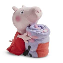 Peppa Pig Blanket Throw and Plush Toy 50x40 inches NEW Sweet