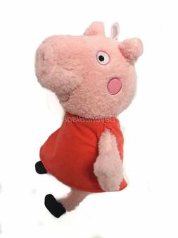 Peppa Pig Plush in Red Dress 14'' Licensed Stuffed Animal To