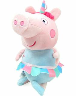 "Peppa Pig Unicorn Plush 7"" Small with Hanging Loop Soft Stuf"