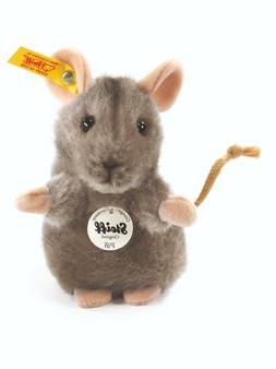 Steiff 'Piff' Grey Mouse - soft cuddly washable plush soft t