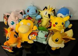 Pokemon Pikachu Bulbasaur Charmander Squirtle Plush Stuffed