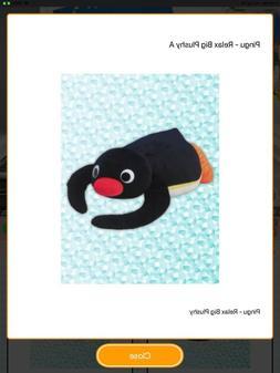 "Furyu Pingu Lying Down Relax Penguin Plush 14"" Toreba Japan"