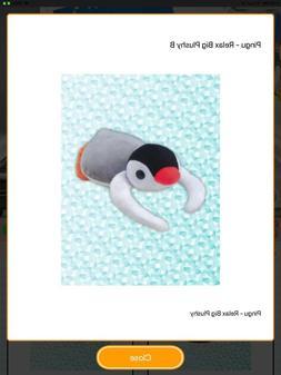 "NWT Pingu Pinga 13"" Lying Down Relax Penguin Stuffed Plush T"