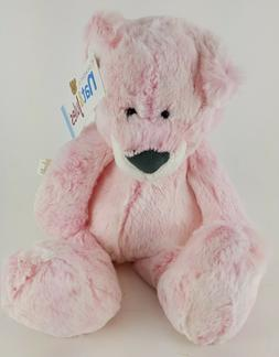"NAT & JULES PINK CUDDLY TEDDY BEAR BEAN BAG BOTTOM 14"" CUDDL"