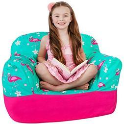 Yayme! Pink and Teal Flamingo Kids Stuffed Animal Storage Be