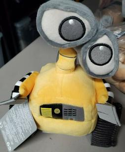 Pixar Wall-E 7 inch Plush Stuffed Toy Yellow Gray Small Disn