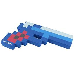"8 Bit Pixelated Blue Diamond Foam Gun Toy 10"" by EnderToys"
