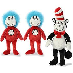 "Aurora Plush Bundle of 3, 20"" Cat in the Hat, and 12"" Thing"