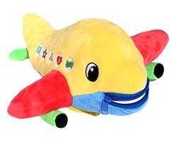 Children Plush Travel Activity Buckle Play Toy Bolt Airplane