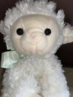 Hobby Lobby Plush Baby Cream Lamb Sheep  Mint Green Bow Stuf