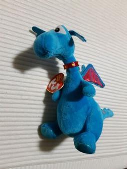 "Plush Ty Beanie Blue Dragon 6"" H Great Condition as shown, D"
