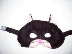 PLUSH BLACK CAT KITTY MASK CHILD AGE 3 + PRETEND PLAY