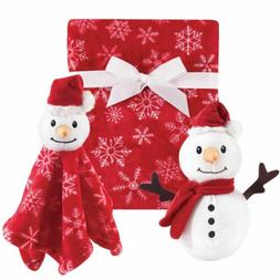 Hudson Baby Plush Blanket and Security Blanket Set, Snowman,