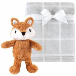 Plush Blanket with Plush Toy Set, Snuggly Fox
