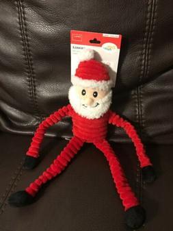 ZippyPaws - Plush Dog Toy Christmas Crinkle Santa Claus Sque