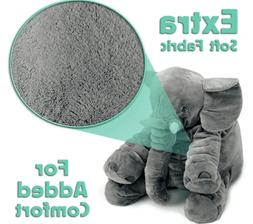 Plush Elephant Toy Pillow Soft Stuffed Baby Animal Toys Kids