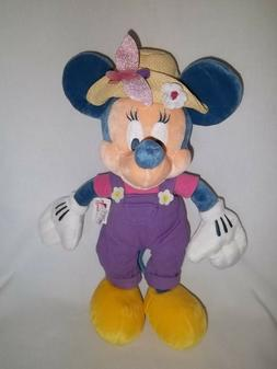 "DISNEY STORE 13"" Plush GARDEN PARTY MINNIE MOUSE Doll Spring"