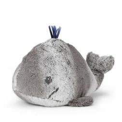 Nat and Jules Smiling Wylie Whale Soft Gray Children's Plush
