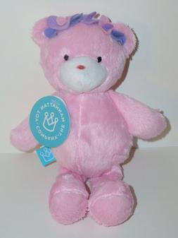 "The Manhattan Toy Company Plush Hearts Teddy Bear 9"" Pink"