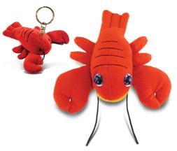Puzzled Plush Lobster - Big Eye 6 Inch and Keychain
