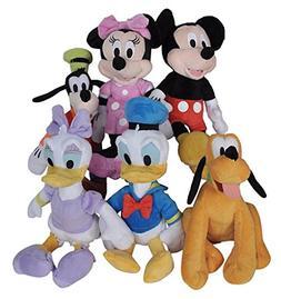 "Disney 11"" Plush Mickey Minnie Mouse Donald Daisy Duck Goofy"