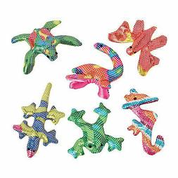Plush Mini Glitter Animals - Toys - 12 Pieces