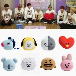 Plush Pillow Doll Cushion Toy BTS BT21 TATA SHOOKY KOYA CHIM