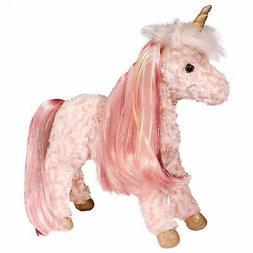 """Douglas Plush Rose Pink Unicorn Stuffed Animal, 13"""""""