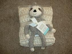 Hudson Baby Plush Sloth Toy Fleece Blanket Set Baby Boys Inf