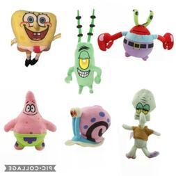 Plush Spongebob Squarepants Stuffed Animal Cartoon Character