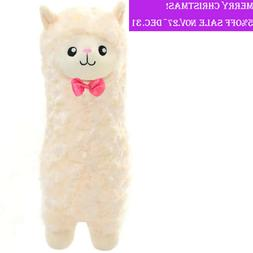 Winsterch Plush Stuffed Llama Alpaca Animals Toy Curly Fur L
