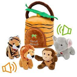 Plush Talking Jungle Animals Toy Set Plush Creations  | Baby