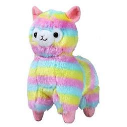 Staron Plush Toy, Rainbow Alpaca Doll Colorful Alpaca Llama