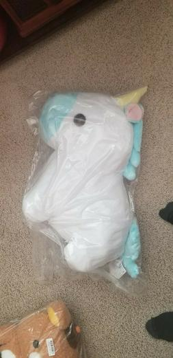 AMUSE Pocket Zoo Yumekawa Unicorn Pink White Plush Toy Big N