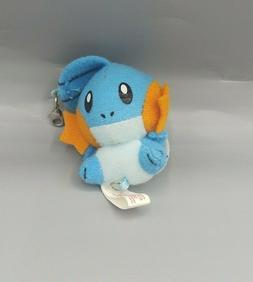 "Pokemon Banpresto 2004 Mudkip Tiny 2"" Clip Plush Stuffed Dol"