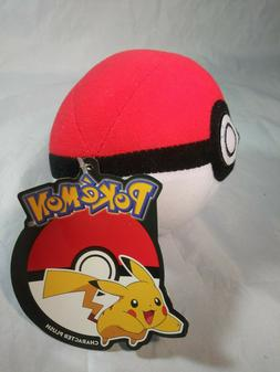 "Pokemon Toy Factory 2017 Character Plush Pokeball 6"" Plush S"