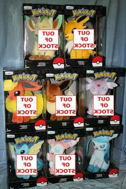 "TOMY Pokemon 8"" Plush Eevee Evolution Series - Toys R Us Exc"