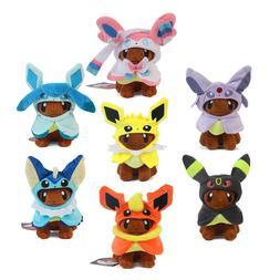 Pokemon Center Plush Toy Eevee Poncho Vaporeon Espeon Umbreo