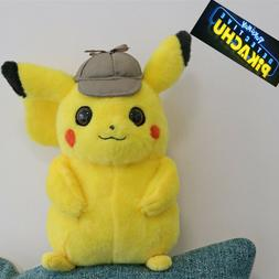 Pokemon Detective Pikachu Plush Doll Stuffed Toy Movie Anime