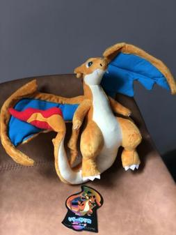 Pokemon Dragon Mega Charizard Y Plush Toy Stuffed Animal Fig