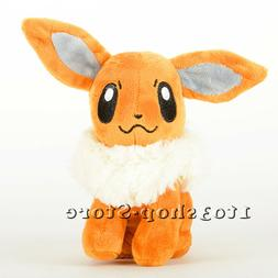 Pokemon Eevee Stand Figures Plush Soft Toy Stuffed Doll 7''