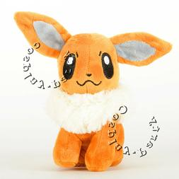 Pokemon Eevee  Stand Figures Plush Soft Toy Stuffed Doll 6''