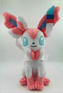 Pokemon Eevee Sylveon Plush Doll Stuffed Animal Figure Soft