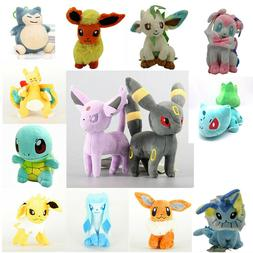 Pokemon Figures Plush Toy Stuffed Doll 7'' Kid Baby Gift Set