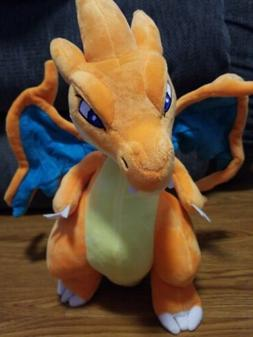 "Pokemon Mega Charizard X 12"" plush doll New. USA seller"