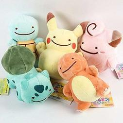Pokemon Pikachu Charmander Squirtle Bulbasaur Clefairy Ditto