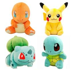 Pokemon Plush Doll Toy Stuffed Animal Pikachu Bulbasaur Squi