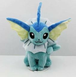 "Pokémon Seated Vaporeon Plush Stuffed Animal Toy 6"" US Sell"